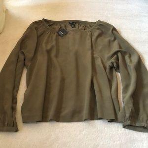 100% silk Club Monaco blouse!